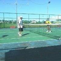 Photo taken at Lapangan Tenis P & K Plus by Yudo A. on 7/7/2013