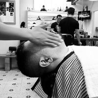 Photo taken at Mojo Barbershop by nai n. on 5/5/2013