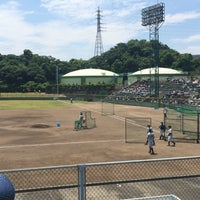 Photo taken at 蒲郡野球場 by ナゴ虎 on 5/31/2015