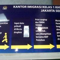 Photo taken at Kantor Imigrasi Kelas 1 Khusus Jakarta Selatan by enita r. on 4/11/2013