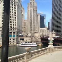 Photo taken at Michigan Avenue Bridge by Navya C. on 4/26/2013