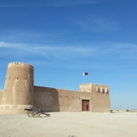 Photo taken at Al-Zubara Castle by Marco F. on 1/17/2013