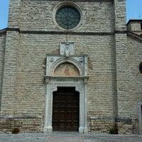 Photo taken at Abbazia di Farfa by Daniel A. on 8/22/2016