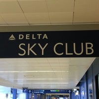 Photo taken at Delta Sky Club by Christopher C. on 2/2/2013
