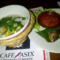 Photo taken at Cafe Asix by Stephanie Marcia B. on 4/11/2013