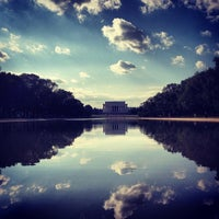 Photo taken at Lincoln Memorial Reflecting Pool by Kyle D. on 10/10/2012