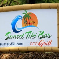Photo taken at The Sunset Tiki Bar by Gail A. on 7/30/2015