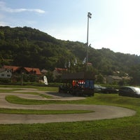 Photo taken at Mini-autodrom Krapina by Šarkezi R. on 9/8/2013