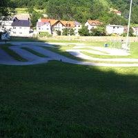 Photo taken at Mini-autodrom Krapina by Šarkezi R. on 6/4/2014