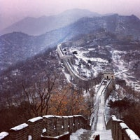 Photo taken at Great Wall at Mutianyu by Theo P. on 12/20/2012