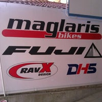 Photo taken at Maglaris bikes by Sokratis G. on 9/25/2012