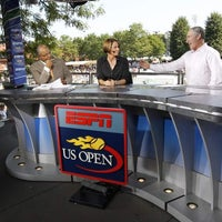 Photo taken at US Open Sports Desk by US Open Tennis Championships on 8/27/2013