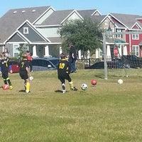 Photo taken at Soccer Practice by Jennifer R. on 10/19/2013