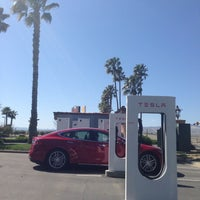 Photo taken at Tesla Supercharger Station by Justin Y. on 3/23/2014