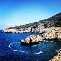 Photo taken at Faro di Punta Carena by Fabio L. on 6/30/2013