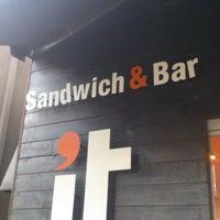 Photo taken at It Sandwich & Bar by Álvaro D. on 6/28/2013