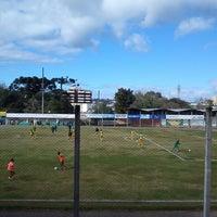 Photo taken at Estadio Municipal Mario Cini by Jorge L. on 8/18/2013