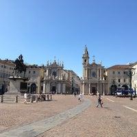 Photo taken at Piazza San Carlo by Дмитрий З. on 6/11/2013