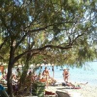 Photo taken at Campi Beach by Leonidas K. on 8/14/2014