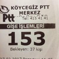 Photo taken at Köycegiz Ptt by Kaptan Şevket U. on 2/27/2017