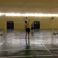 Photo taken at Palm Spring Badminton Court by Idalyn r. on 11/25/2015