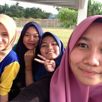 Photo taken at Netball Court Uitm Jasin by Sofea F. on 2/2/2016