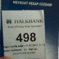 Photo taken at Halkbank by Hilmi K. on 2/27/2017