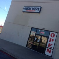 Photo taken at Flaming Burger by Korin M. on 10/17/2013