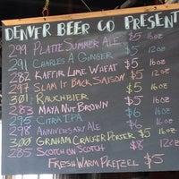 8/20/2013 tarihinde Keith B.ziyaretçi tarafından Denver Beer Co.'de çekilen fotoğraf