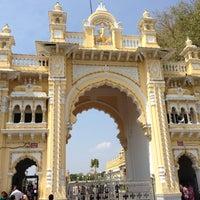 Photo taken at Jagan Mohana Palace by Unnikrishnan K. on 3/26/2013