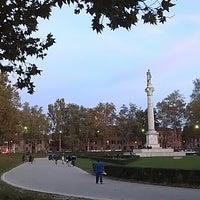 Photo taken at Piazza Ariostea by Eliana on 10/31/2013