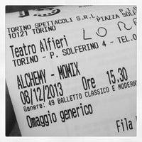 Photo taken at Teatro Alfieri by Alessia on 12/8/2013
