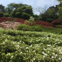 Photo taken at 卯辰山 花木園 by You A. on 5/1/2018