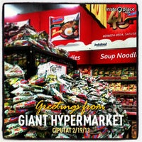 Photo taken at Giant Hypermarket by Deassy A. on 2/19/2013