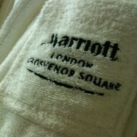Photo taken at London Marriott Hotel Grosvenor Square by Jammy R. on 9/19/2012