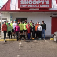 Photo taken at Snoopy's Hot Dogs & More by Jon O. on 1/27/2013