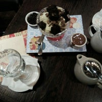 Photo taken at Max Brenner Chocolate Bar by Cansel O. on 2/16/2016