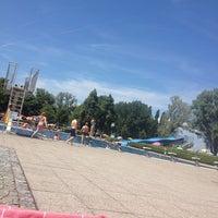 Photo taken at Strandbad Bregenz by Merve D. on 7/26/2013