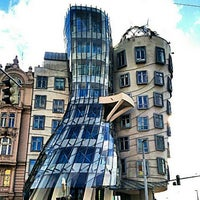 Photo taken at Dancing House by Dionys H. on 4/1/2013