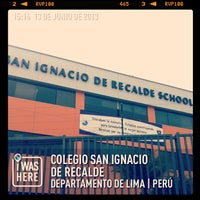 Photo taken at Colegio San Ignacio de Recalde by Lalo Y. on 6/13/2013