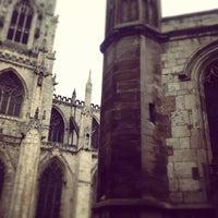Photo taken at St Michael le Belfrey by Dan T. on 2/20/2013