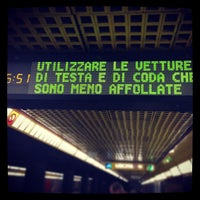Photo taken at Metro Porta Romana (M3) by Michele F. on 1/18/2013