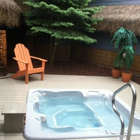 Photo taken at Oasis Hot Tub Garden by Ruthy P. on 6/5/2013
