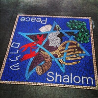 Photo taken at Shalom / Peace mosaic by Matthew V. on 9/12/2013