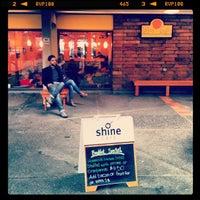 Photo taken at Shine Cafe by Matthew V. on 2/10/2013