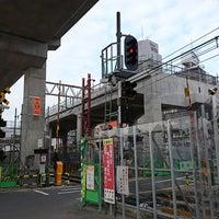 Photo taken at 東武伊勢崎線第38号踏切(竹ノ塚駅北側踏切) by Clomi9999 on 6/17/2018