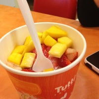 Photo taken at Tutti Frutti Frozen Yogurt by Chrysta L. on 1/28/2013