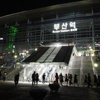 Photo taken at Busan Stn. - KTX/Korail by Seojin H. on 5/4/2013