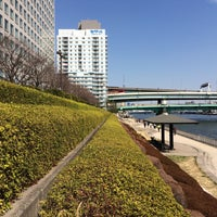 Photo taken at 隅田川テラス 日本IBM本社事業所前 by Futoshi T. on 2/27/2016