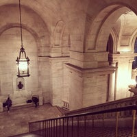 Photo taken at New York Public Library - Battery Park City by MinJi J. on 10/3/2014